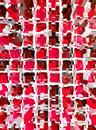 Abstract red mosaic dimension background Stock Photo
