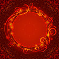 Abstract Red Mystic Lace Backg...