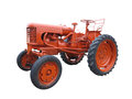 Abstract red old tractor isolated over white Royalty Free Stock Photo