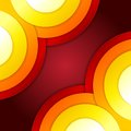 Abstract red and orange circles vector background rgb eps Royalty Free Stock Images