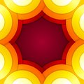 Abstract red and orange circles vector background rgb eps Stock Image