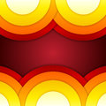 Abstract red orange and yellow round shapes backg background rgb eps illustration Royalty Free Stock Images