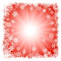 Abstract red snowflake background vector illustration of a Royalty Free Stock Image