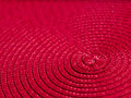 Abstract red spiral place mat Stock Image