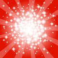 Abstract red star background vector illustration of a Royalty Free Stock Images