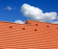 Abstract red tiled roof Royalty Free Stock Photo