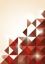 Abstract red triangle background illustration Royalty Free Stock Photography