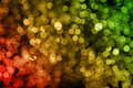 Abstract red yellow green blurred lights Stock Photos