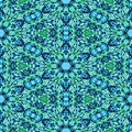 Abstract regular seamless symmetrical kaleidoscopic pattern turquoise Royalty Free Stock Photography