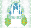 Abstract religious background ramadan kareem design vector Stock Image