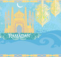 Abstract religious background ramadan kareem vector design Stock Photography