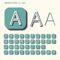 Abstract retro alphabet and digit vector set of Stock Photography