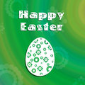 Abstract retro eggs illustration an easter a easter egg on a colourful green background with flowers Royalty Free Stock Photography