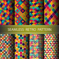 Abstract Retro Geometric Seaml...
