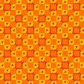 Abstract retro orange dots tiles wallpaper pattern texture background Royalty Free Stock Image