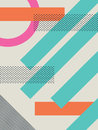 Abstract retro s background with geometric shapes and pattern material design wallpaper eps vector illustration Royalty Free Stock Photo