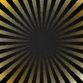 Abstract retro shiny starburst black background with gold dots pattern texture halftone style. Vintage rays backdrop, boom, comic
