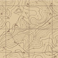 Abstract retro topography map background vector Royalty Free Stock Image