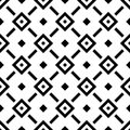 Abstract rhombus seamless pattern in diagonal arrangement. Retro design vector background. Black ornaments isolated on Royalty Free Stock Photo