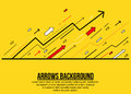 Abstract rising arrows minimalist background Royalty Free Stock Photo