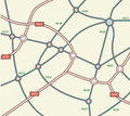 Abstract road map Royalty Free Stock Image