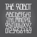 Abstract robot alphabet and digit vector set of Stock Images