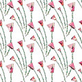 Abstract roses pattern. Floral seamless background. Stylized flowers design for textile, wrapping, wallpaper, fabric.