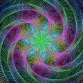 Abstract rotating colorful fractal design