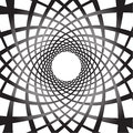 Abstract rotating shapes. Dynamic swirling, twirling background Royalty Free Stock Photo