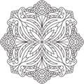 Abstract round lace design - mandala, decorative element