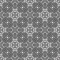 Abstract round lines seamless pattern background illustration in black and white Royalty Free Stock Photo
