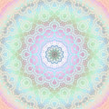 Abstract round ornament pink violet mint green light blue