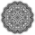 Abstract round pattern, oriental mandala