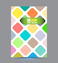 Abstract Round rectangle design vector template
