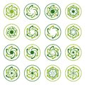 Abstract round shapes templates for eco technology logo.