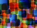 Abstract rounded corner background multi color Stock Photo