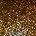 Abstract rounded gold mosaic background. EPS8 Stock Photos