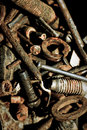 Abstract rusty grunge iron tools Stock Image