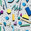 Abstract 80s or 90s background pattern, vector Royalty Free Stock Photo