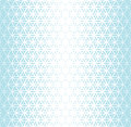 Abstract sacred geometry blue gradient flower of life halftone pattern Royalty Free Stock Photo