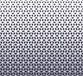 Abstract sacred geometry purple grid halftone cubes pattern
