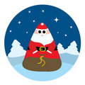 Abstract Santa Claus with bag Stock Images