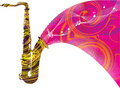 Abstract saxophone illustration Stock Images