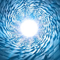 Abstract sci-fi 3d Tunnel Royalty Free Stock Photography