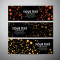 Abstract Science background with molecules. Vector banners set background. Royalty Free Stock Photo