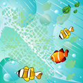 Abstract sea and fish Stock Images