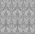 Abstract seamless art nouveau pattern illustration of seamlessly tiling repeat background Royalty Free Stock Photography