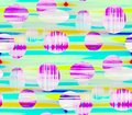 Abstract seamless background balloons on a pink,blue and white color Royalty Free Stock Photo