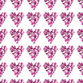 Abstract seamless background with geometric hearts this is file of eps format Royalty Free Stock Photography