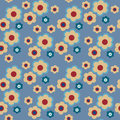 Abstract seamless background with original floral pattern
